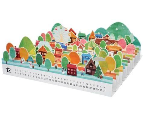 paper craft calendars papermau mini city 3d papercraft calendar 2012 by canon