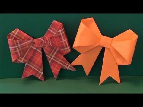 how to make a ribbon origami origami how to make a paper bow ribbon