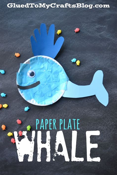 whale paper plate craft whale of a time cup craft glued to my crafts
