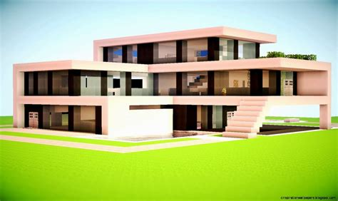 minecraft home design minecraft modern house designs inspiration wallpapers