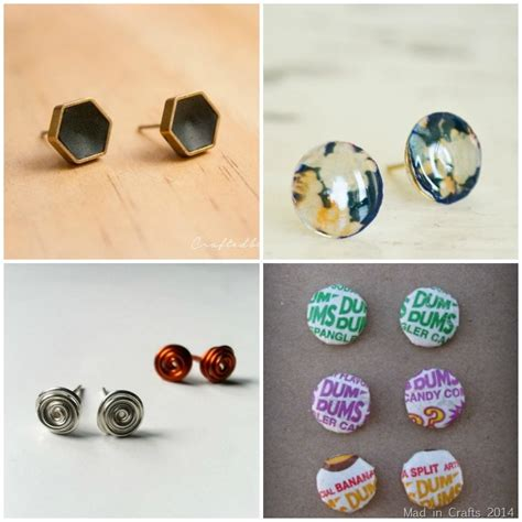 how to make sted jewelry 20 diy stud earring tutorials