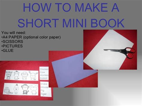how to make picture book how to make a mini book