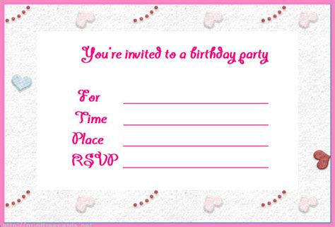 make a birthday invitation card free birthday invites make birthday invitations free