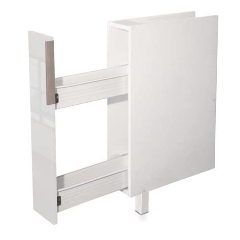 epices meuble bas de cuisine 15 cm blanc haute brillance achat vente elements bas epices