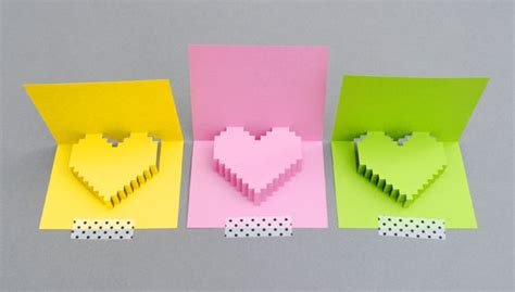 how to make a pixel pop up card pixelated popup card 8 steps with pictures