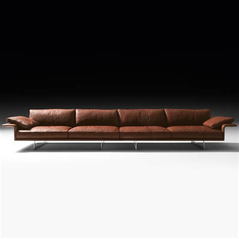 large leather contemporary italian sofa