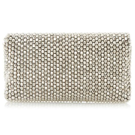 beaded clutch bag dune eternity beaded clutch bag in silver lyst