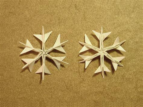 simple origami snowflake ikuzo origami