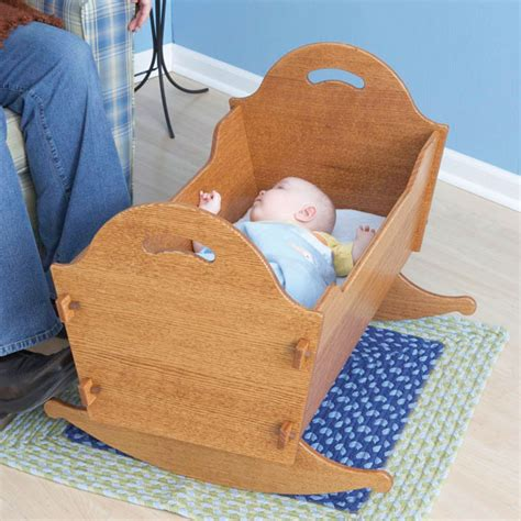 cradle woodworking plans heirloom cradle with storage box woodworking plan from