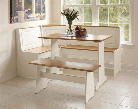 nook kitchen table set linon corner nook set white and finish