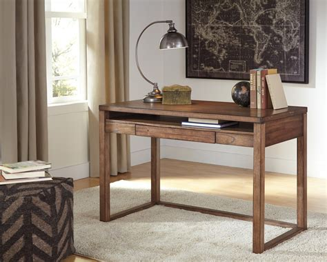 small desk home office baybrin rustic brown home office small desk h587 10