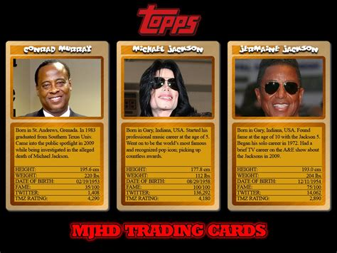 trading card mjhd trading cards released mjhdc