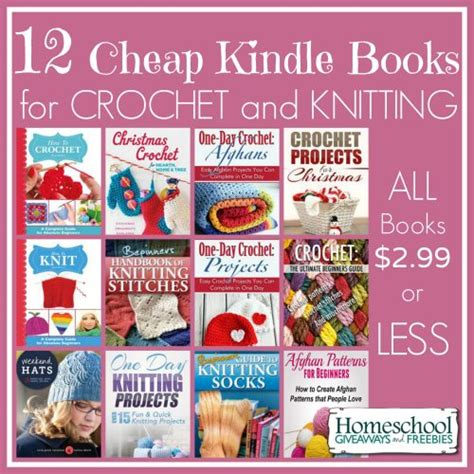 books for knitting 12 cheap kindle books for crochet and knitting