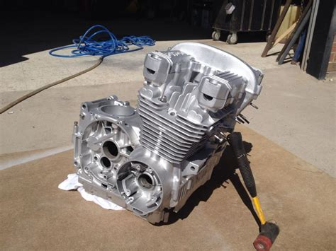 what is bead blasting kawasaki 550 engine before after bead blasting l r