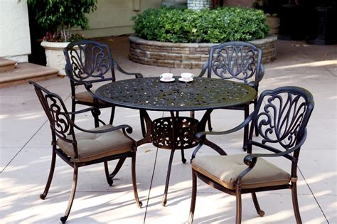 cast aluminum patio furniture sets patio furniture dining set cast aluminum 48 quot table