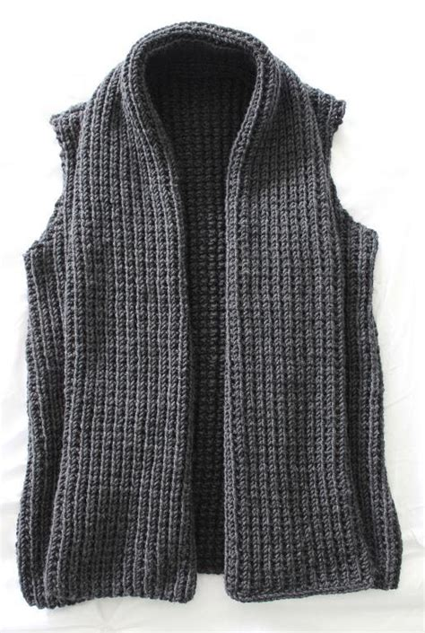 knit patterns for vests in one wide collar vest by vtcayton2516856 craftsy