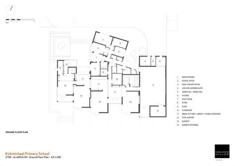 1 Floor Home Plans gallery of kirkmichael primary school holmes miller 10