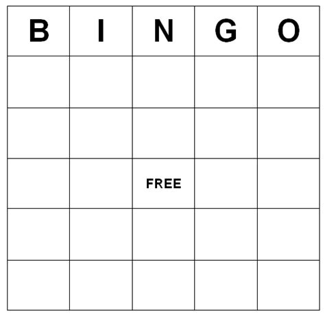 make your own bingo cards template bingo cards printable freebie