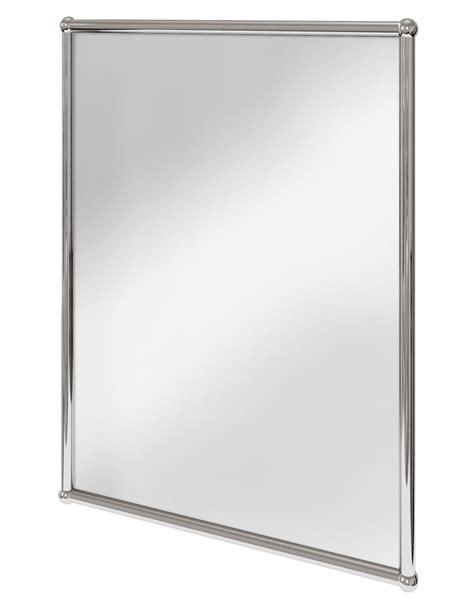 rectangle bathroom mirrors burlington rectangular mirror with chrome frame a11 chr