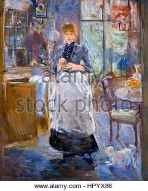 berthe morisot in the dining room in the dining room c1875 berthe morisot in the dining room