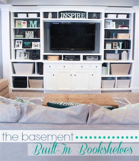 entertainment center bookshelves the basement built in entertainment center bookshelves