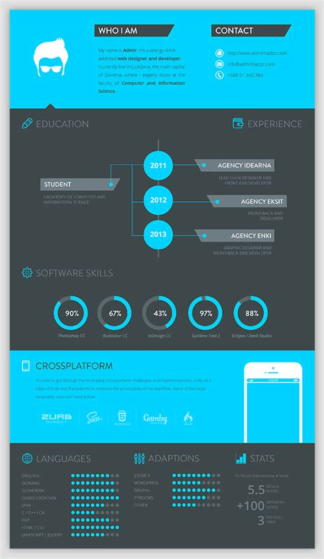 resume layouts free 30 examples of creative graphic design resumes infographics
