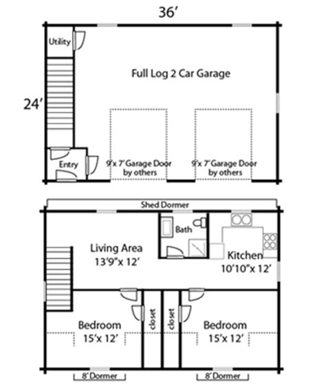 1 bedroom garage apartment floor plans coventry log homes our log home designs garages