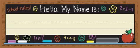 name tags for students desks chalkboard tented school name plates eureka school
