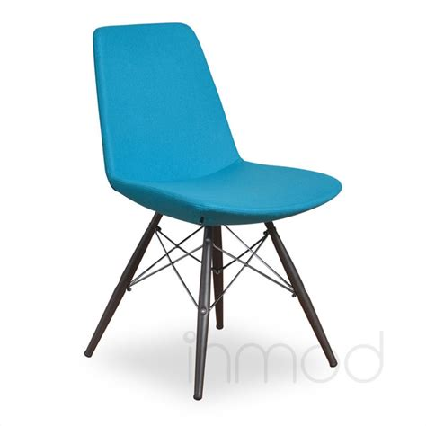 turquoise dining chairs vino mdb dining chair set of 2 turquoise wool fabric