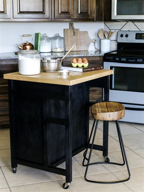 building an island in your kitchen how to build a diy kitchen island on wheels hgtv