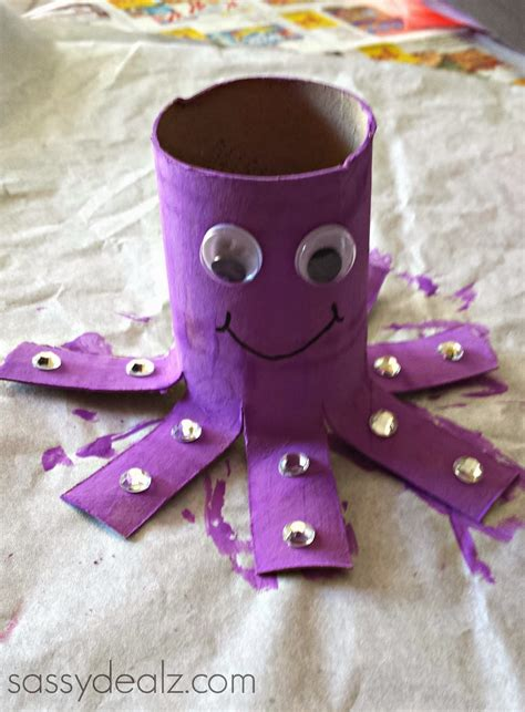 crafts with empty toilet paper rolls octopus toilet paper roll craft for crafty morning