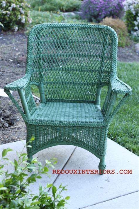 spray painting wicker going green my junque for