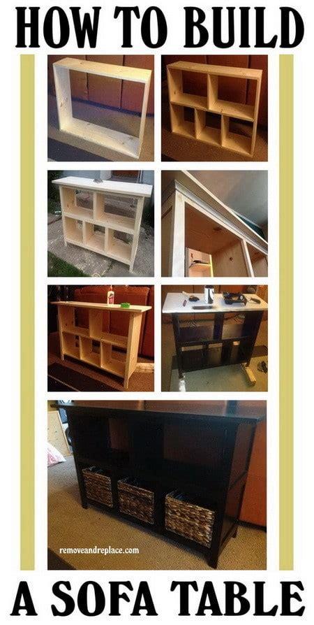 how to build a sofa table how to build a sofa table easy diy step by step us2