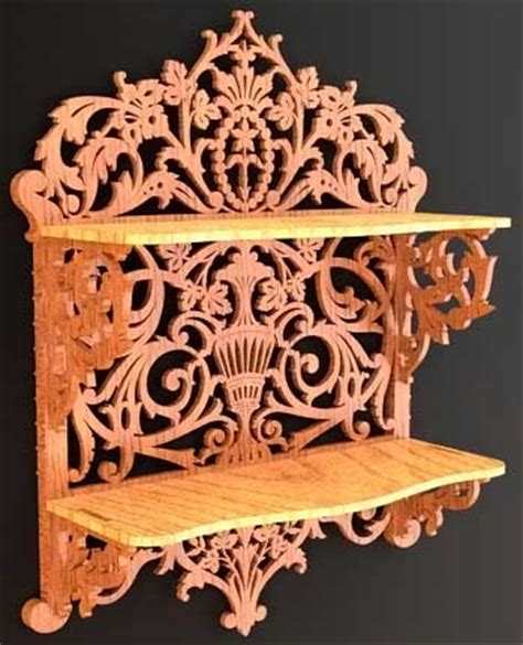 scroll saw woodworking wooden shelf photos