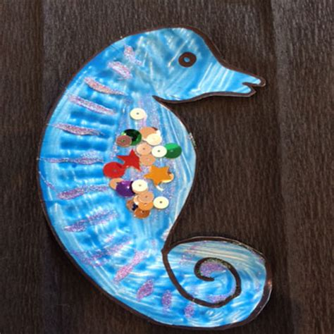 seahorse paper plate craft paper plate archives play resource