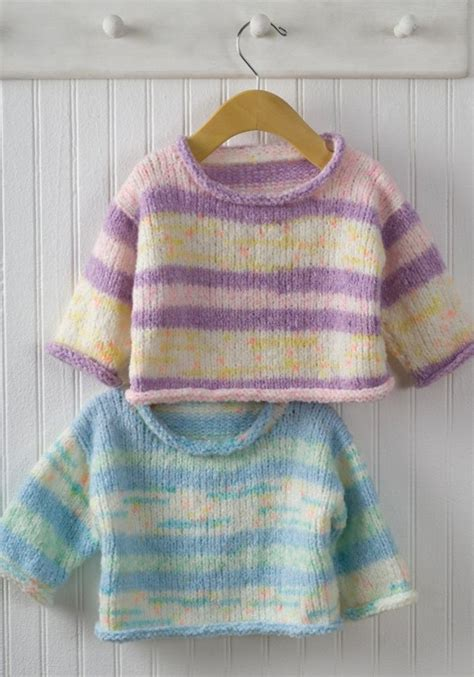 easy baby sweater knitting pattern easy baby pullover sweater knitting pattern allcrafts