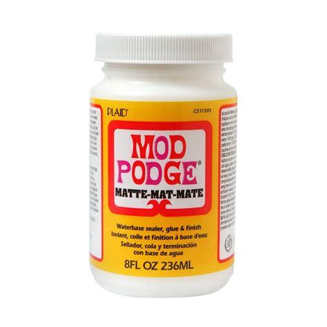 decoupage and mod podge mod podge 8 oz matte decoupage glue cs11301 the home depot