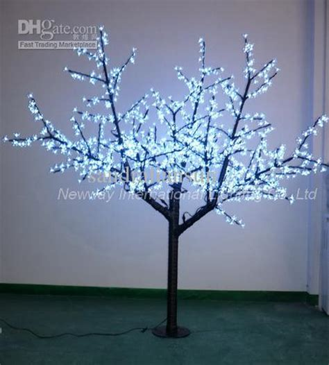 tree with big lights 2m white led lighting branches with big cherry flowers for