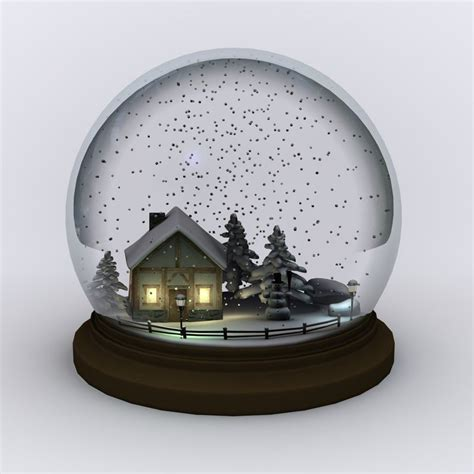 snow globe snow globe snowglobe 3d 3ds