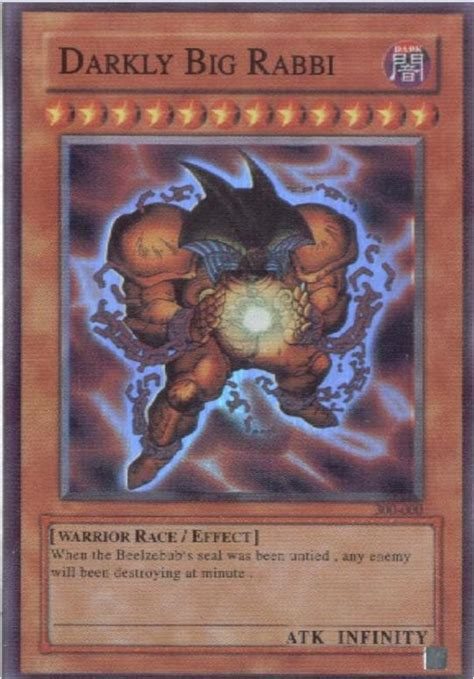 how to make real yugioh cards darkly big rabbi by galangthus on deviantart