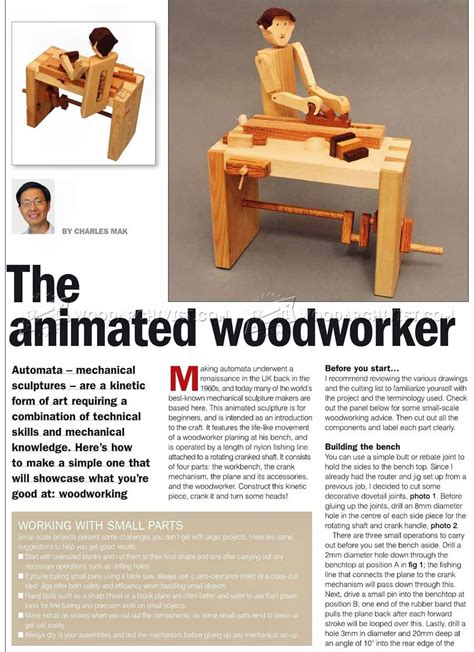 how to be a woodworker woodworker automata plans woodarchivist