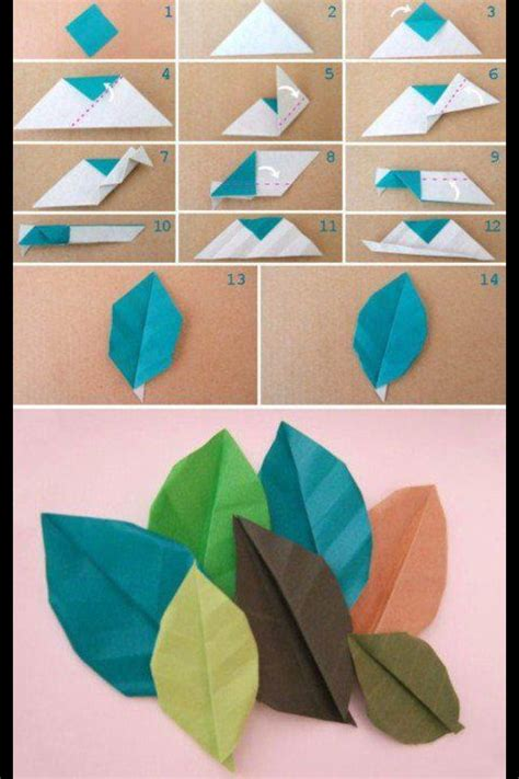 origami with leaf origami leaves diy fall festivities