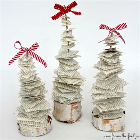 book tree craft recycled paper crafts