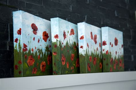 acrylic painting step by step tutorial how to paint poppy flowers with acrylic paint and a