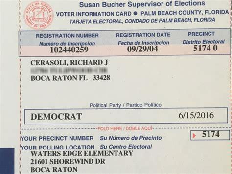 how to make voter card deceased florida s voter registration card sent to
