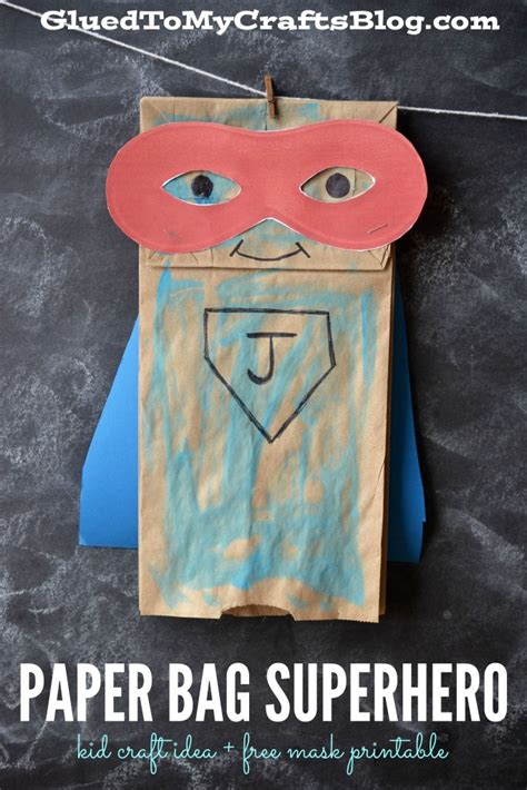 paper bag arts and crafts for paper bag kid craft idea free mask printable