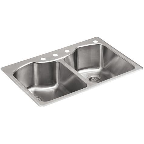 kohler stainless kitchen sink shop kohler octave 22 in x 33 in stainless steel