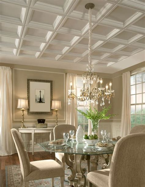 Armstrong Gypsum Ceiling Tiles by 36 Stylish And Timeless Coffered Ceiling Ideas For Any