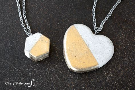 how to make concrete jewelry easy diy concrete necklace everyday dishes