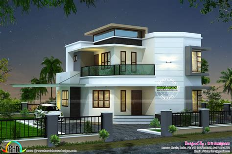 modern contemporary home plans 1838 sq ft modern house kerala home design and floor plans